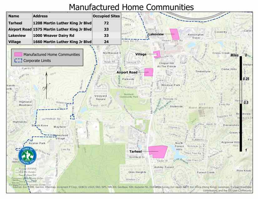 map of manufactured home communities