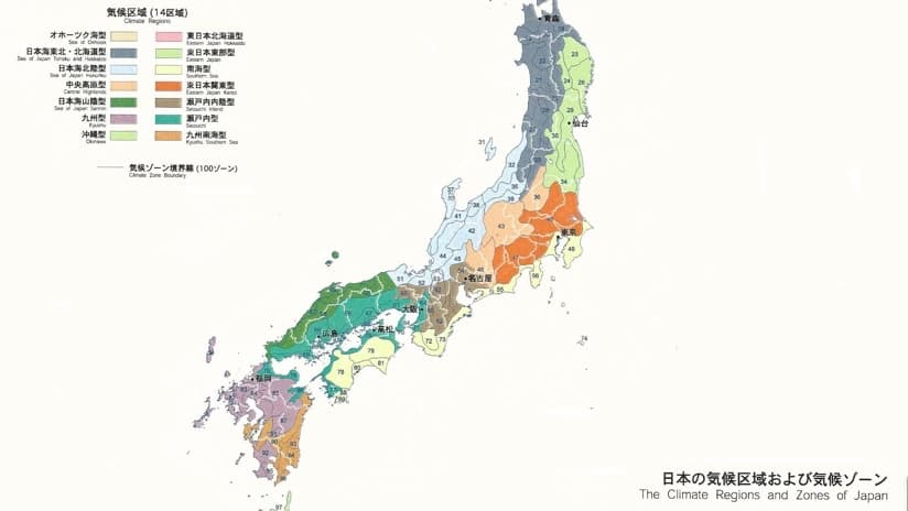 Japan Climate Zones