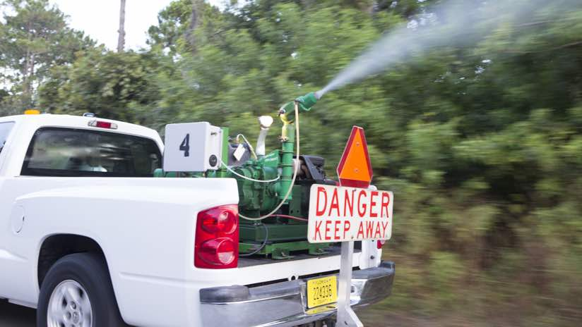 Valusia County Spraying Truck