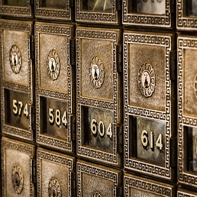 Bank deposit boxes; image by Tim Evans