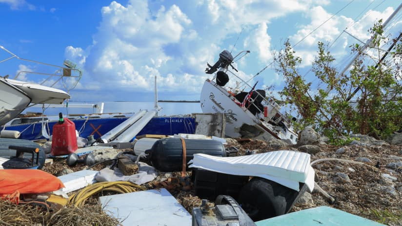 Irma Boat Damage