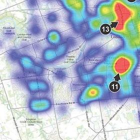 Heat map of London Fire's location analytics