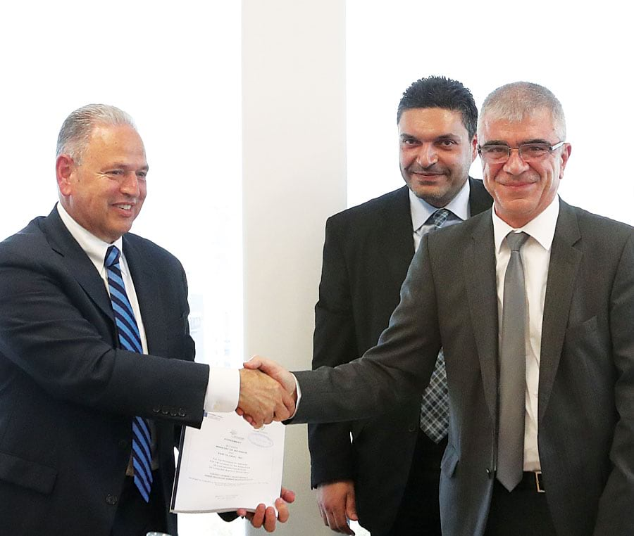 The signing ceremony to upgrade Cyprus's cadastre