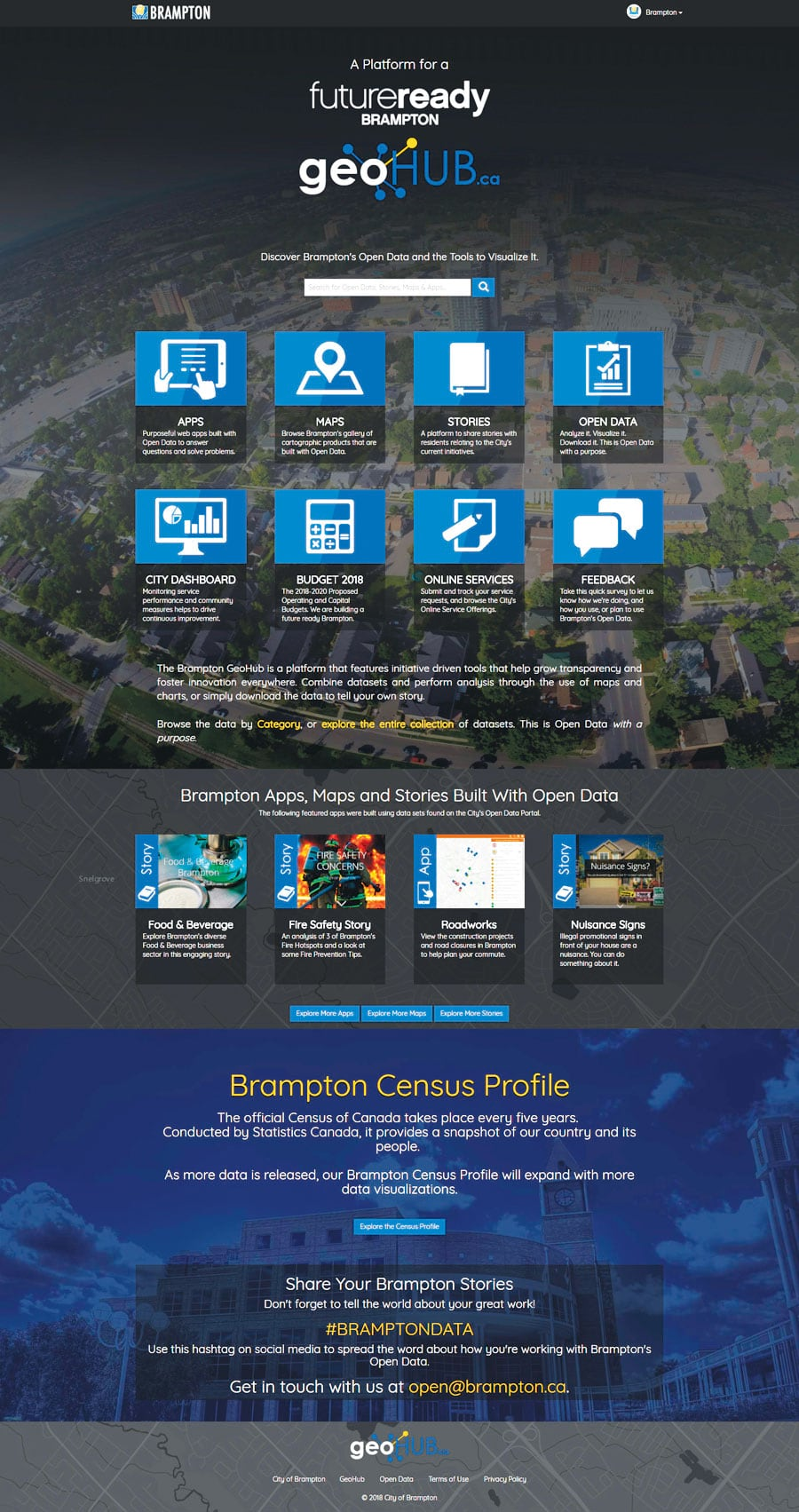 The City of Brampton's GeoHub