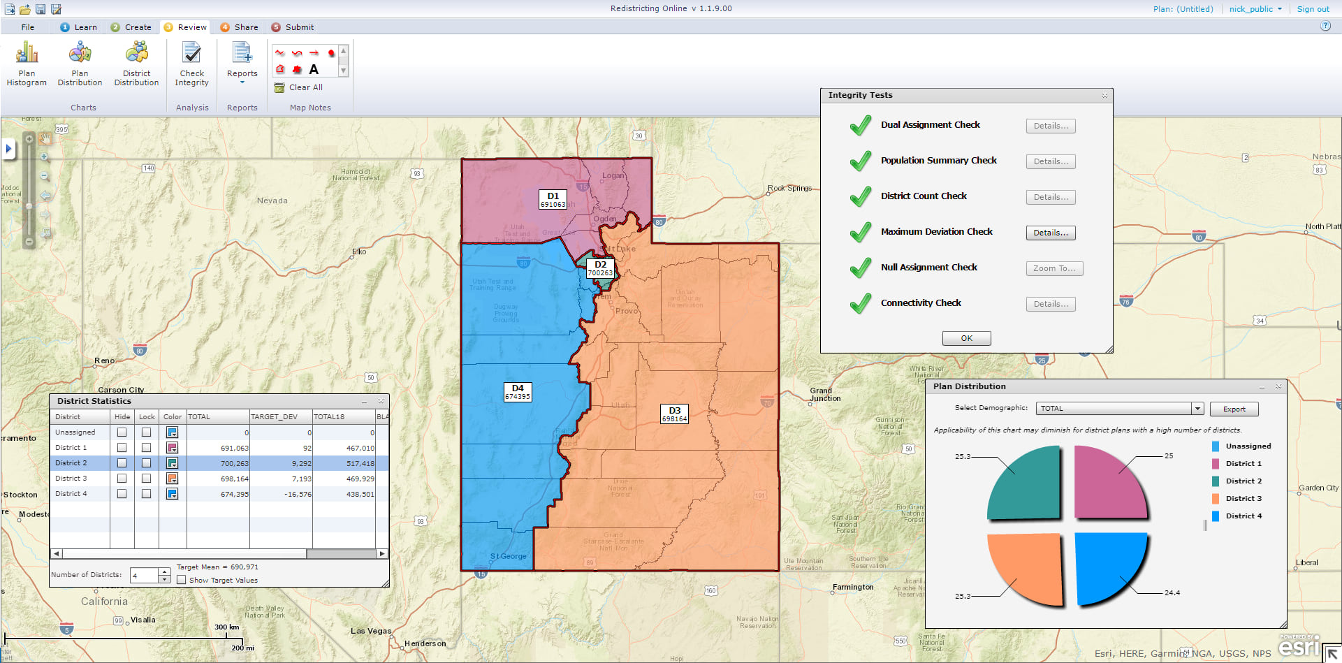 Utah used the Esri Redistricting app