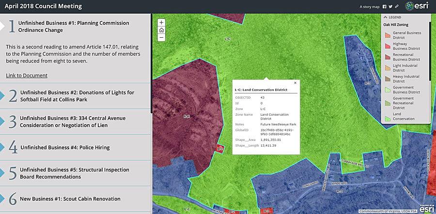 City Council Agendas Morph into Story Maps