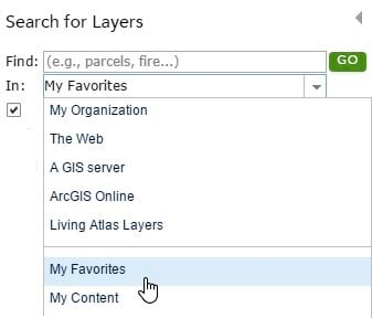 Use Favorites to Organize Your ArcGIS Online Life
