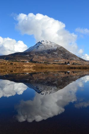 Mount Errigal is County Donegal's tallest peak at 2,464 feet.
