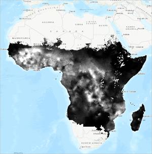 Visualize Malaria Rates in Africa