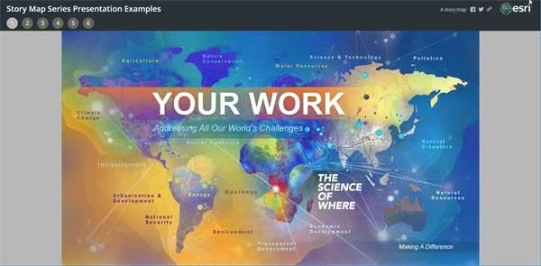 Learn How to Give Presentations Using an Esri Story Map Series App