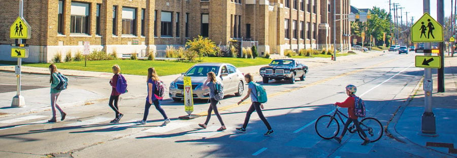 To ensure that all kids in Wauwatosa, Wisconsin, can walk to school safely, the city used GIS to update its Safe Routes to School program. (Photo by Brady Pemper.)