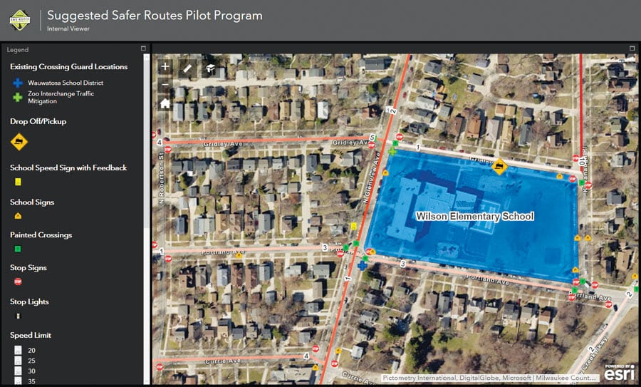 The internal viewer lets city officials and planners make better-informed decisions about infrastructure improvements..