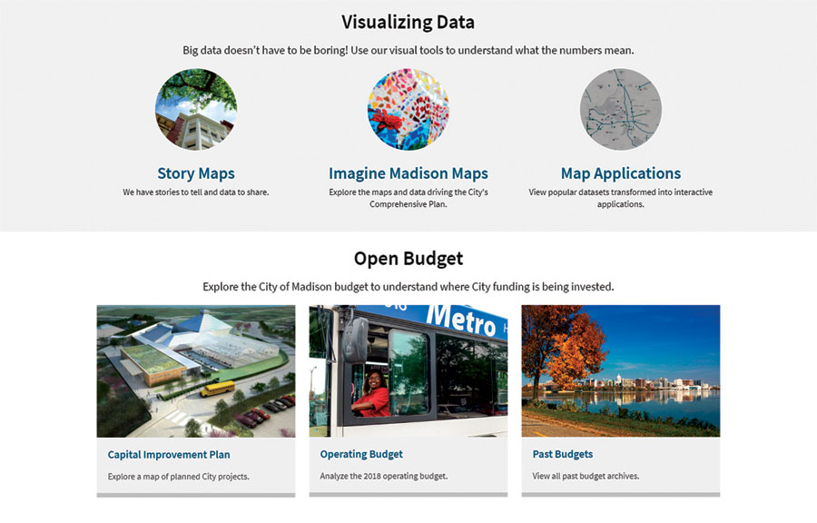 Madison uses its open data site to share tools for planning and decision-making related to sustainability, city services, and other important topics.