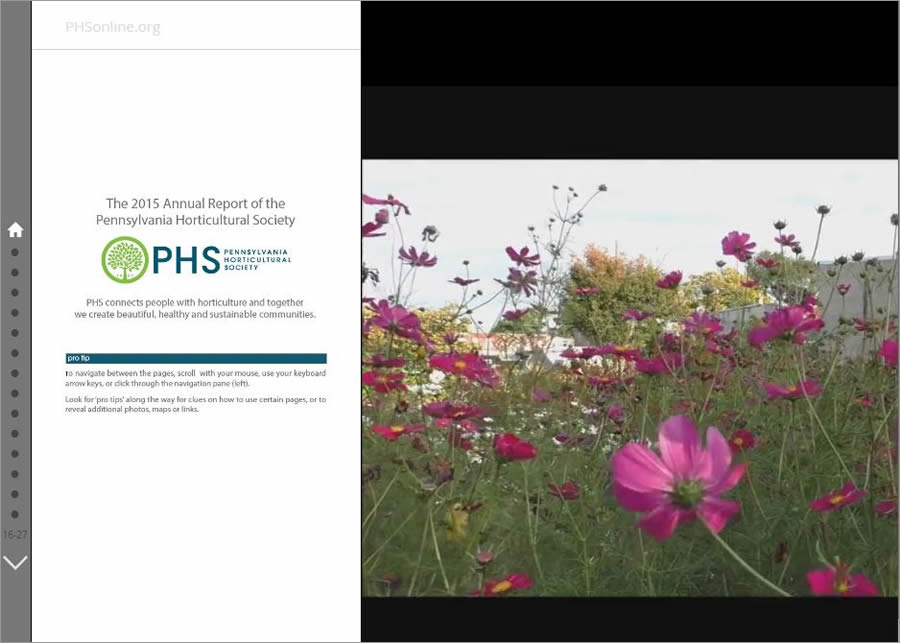 The Pennsylvania Horticultural Society, the 2016 Storytelling with Maps Contest grand prize winner, turned an annual report into a story map.