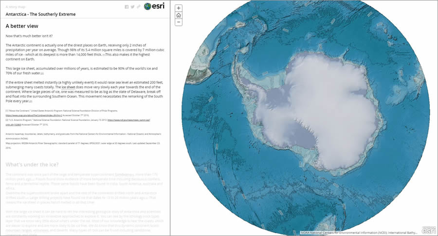 Alicea Zelesny's story map includes interesting facts about the continent of Antarctica.