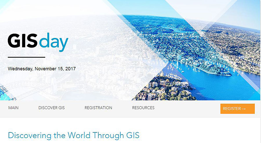 GISday.com includes a map that shows the locations of workshops and other events around the world, along with resources you need to host your own celebration.