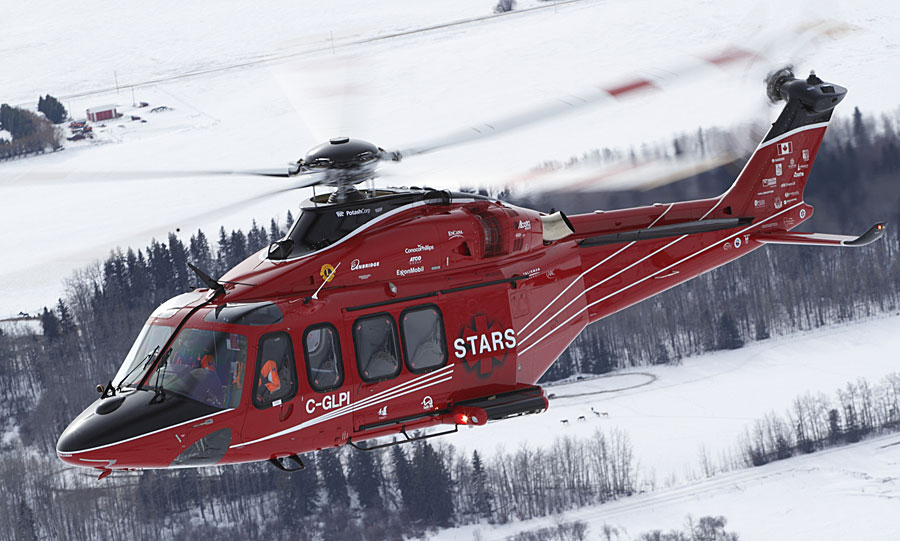 STARS transports patients by helicopter to medical facilities. Photo courtesy of STARS/Mark Mennie.