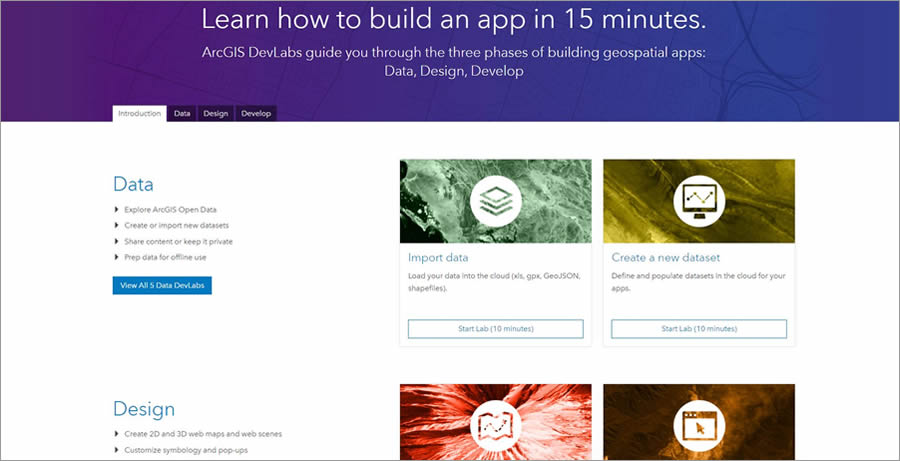 Esri now offers online lessons in building apps.