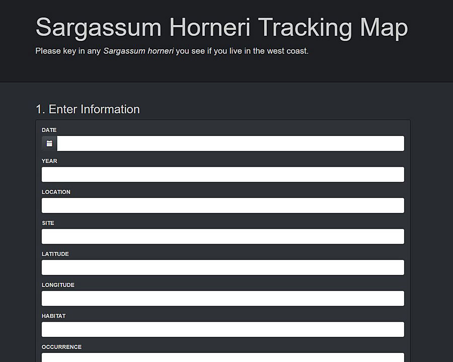 GeoForm from Esri was used to crowdsource data on the Sargassum horneri algae.