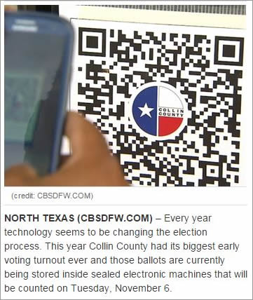 Long line at one polling location? No problem. Voters can use their smartphones to scan quick response (QR) codes posted at the voting centers to find alternate polling locations nearby and get the approximate wait times.