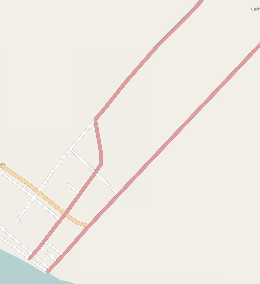 A map of the city of Quelimane, Mozambique, Africa, in OpenStreetMap before students from Texas Tech, George Washington, and West Virginia universities began adding features to it. © OpenStreetMap contributors