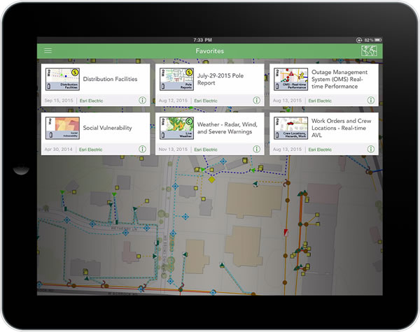 Managers can call up information such as work orders, crew locations or even weather reports on their mobile devices when they are out in the field.