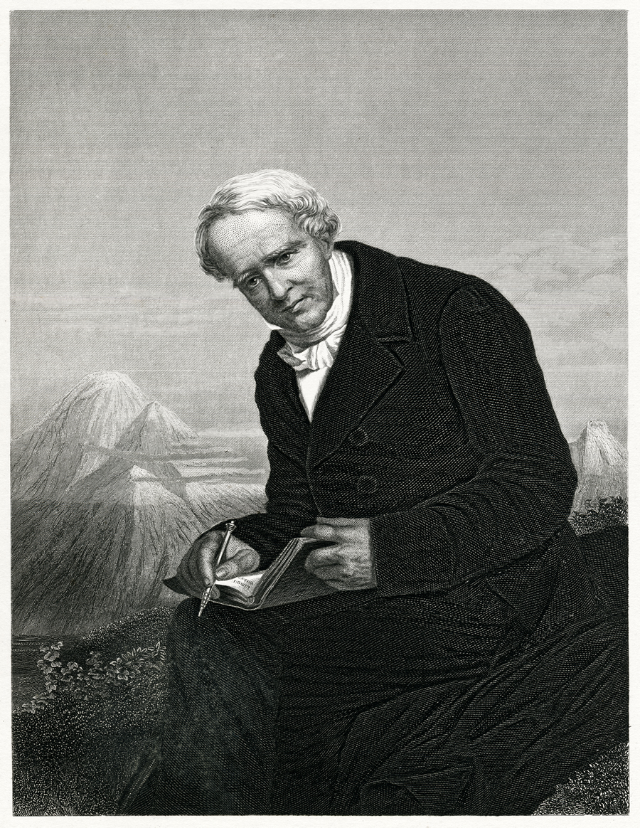A portrait of Humboldt in his later years.