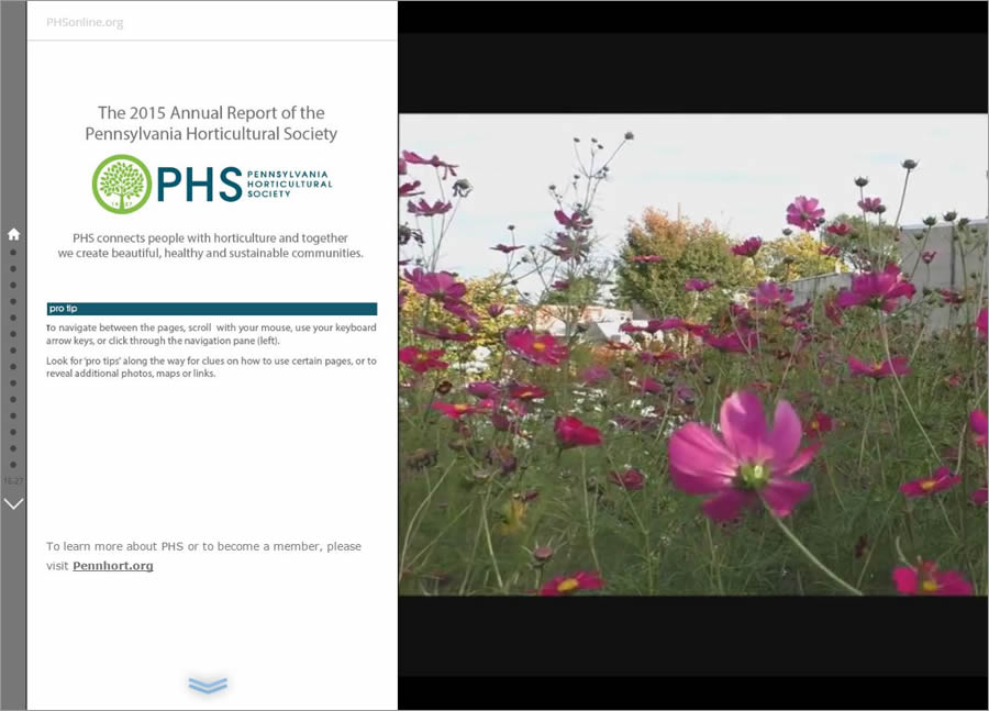 Lauren Medsker turned an annual report about the happenings at a horticultural society into a beautiful and informative story map.