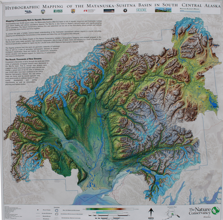 """This map from the Nature Conservancy was lauded for an """"exquisite cartographic design."""""""
