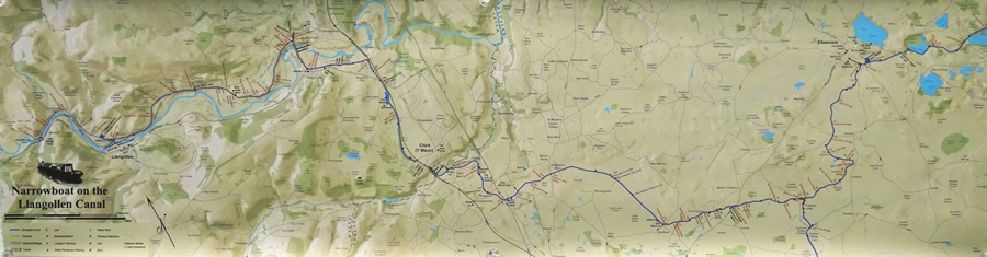 Doug Cain received an award from the Cartography Special Interest Group (CartoSIG) for his map of a 14th century working canal that runs across the border of Wales and England.