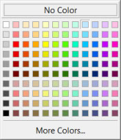 The default color picker