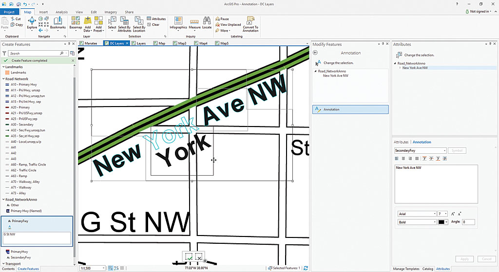 ArcGIS Pro 2.0 gives you full control over annotation