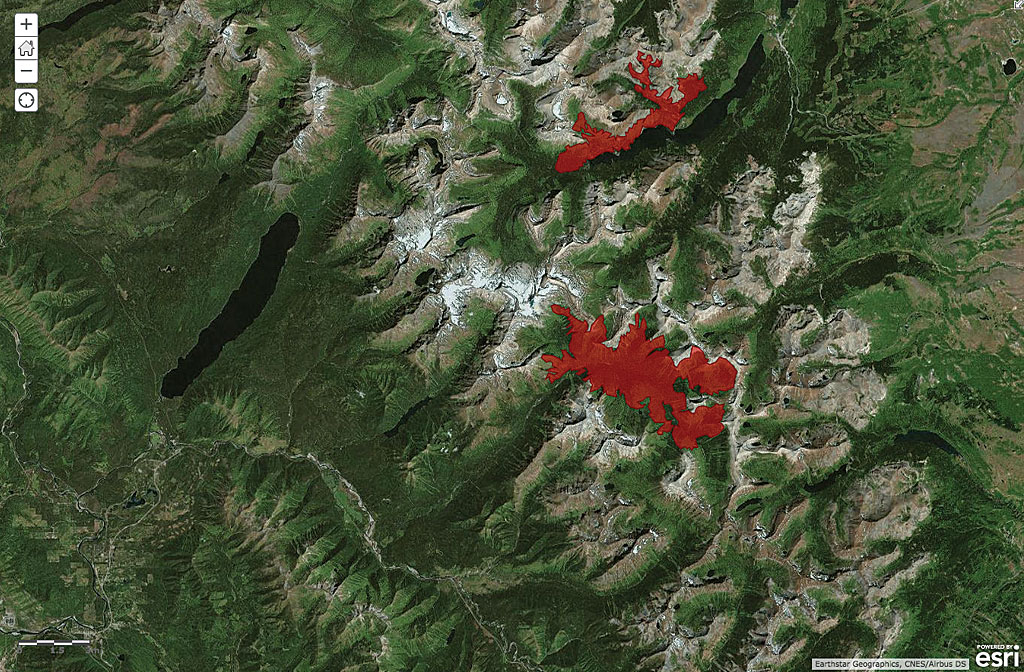 Real-world scenarios measuring the burn scars left by wildfires in Monatana