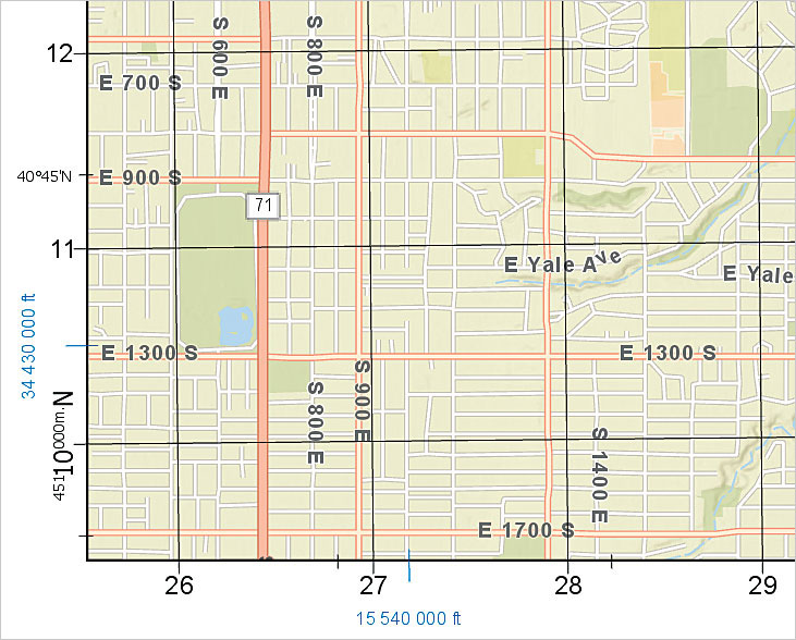 ArcGIS Pro 2.0 now supports grids, which make it easier to find locations on a map.