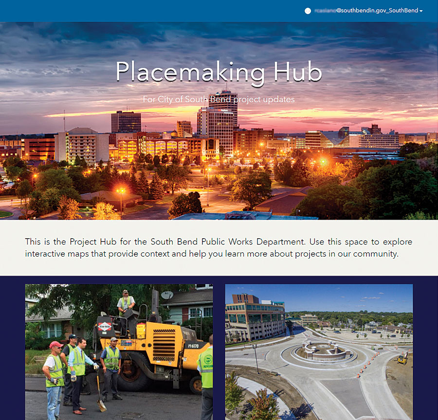 South Bend residents will be able to use ArcGIS Hub to visualize proposed ideas and provide live feedback.