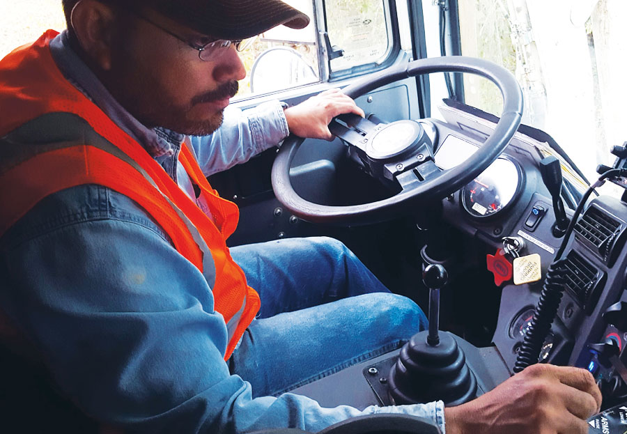 When commercial front-load drivers report for work each morning, they turn on their iPads and access Workforce to get their pickup assignments for the day.