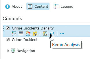 The new Rerun Analysis button makes it easier to run the same analysis more than once.