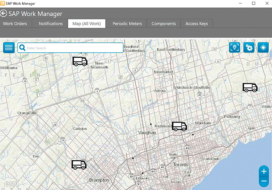 With Critigen's Lemur, schedulers can see crew locations in the SAP Work Manager map view and share them with dispatch so dispatch can notify the nearest crew member of an outage or emergency.