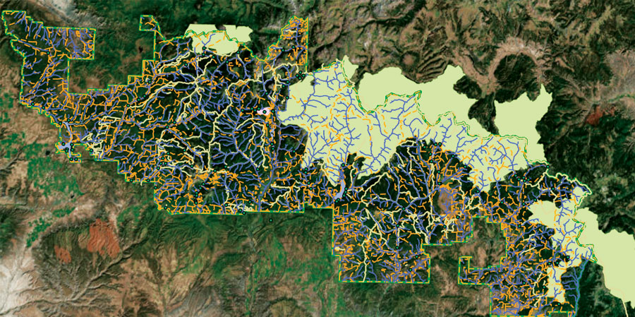 With digital books, Esri Training can finally provide maps in color.