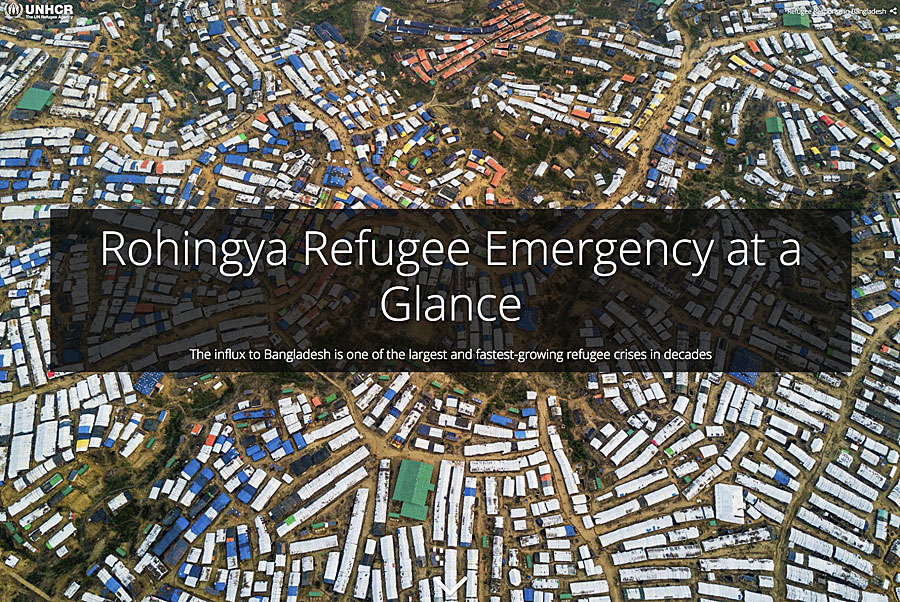 This story map illustrates the risks faced by a refugee camp in Bangladesh because of the monsoon season.