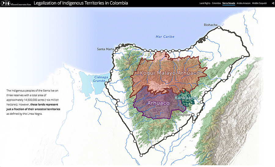 Land rights for indigenous people in Colombia was the focus of this award.