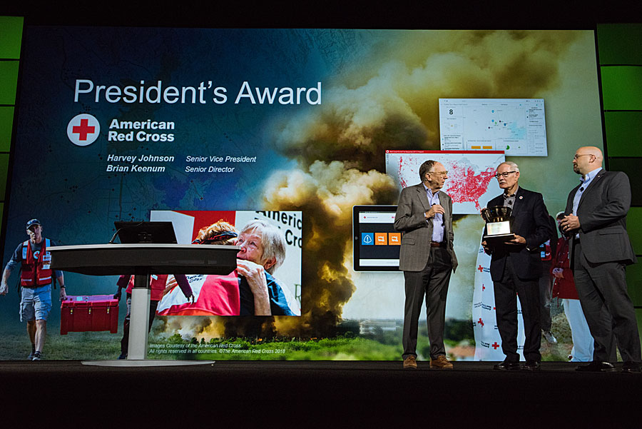 The American Red Cross was recognized for its use of GIS during response recovery operations.