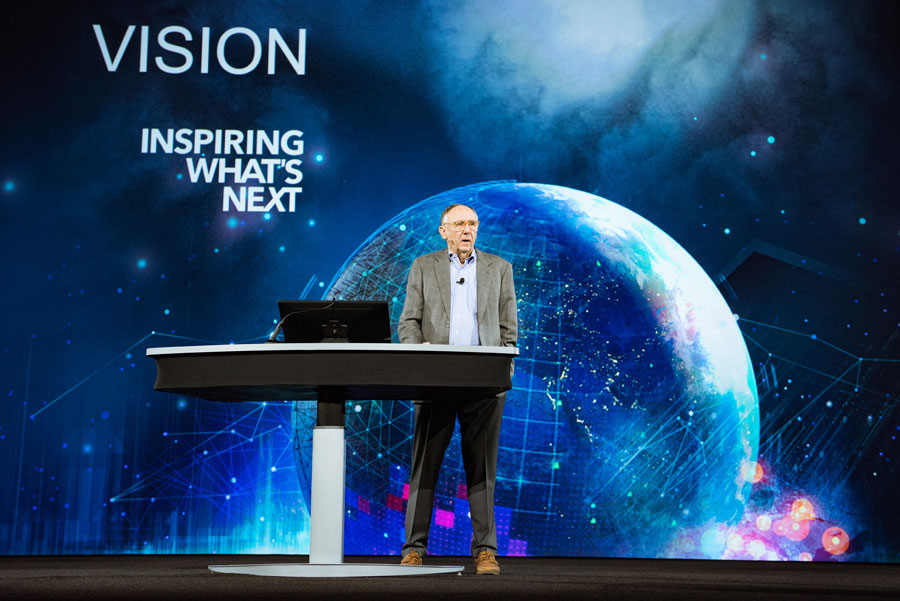 Esri president Jack Dangermond said that the GIS community is responding to problems that are threatening the planet.