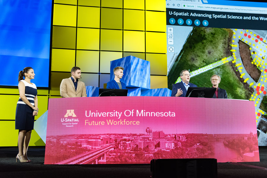 Staff and students from the University of Minnesota talk about the advantages of the U-Spatial program and how GIS helps them analyze their data.