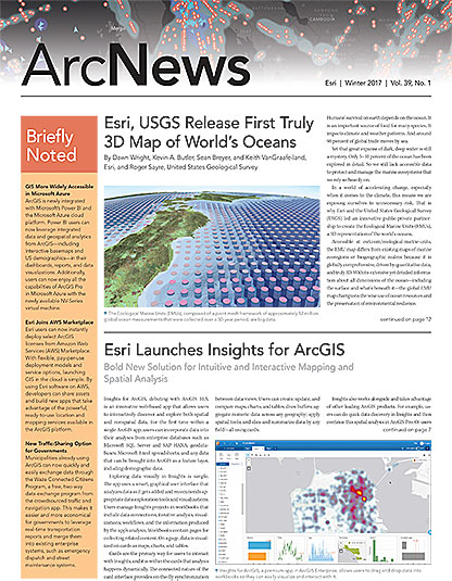 3d Map Of Africa Project.Esri Usgs Release First Truly 3d Map Of World S Oceans