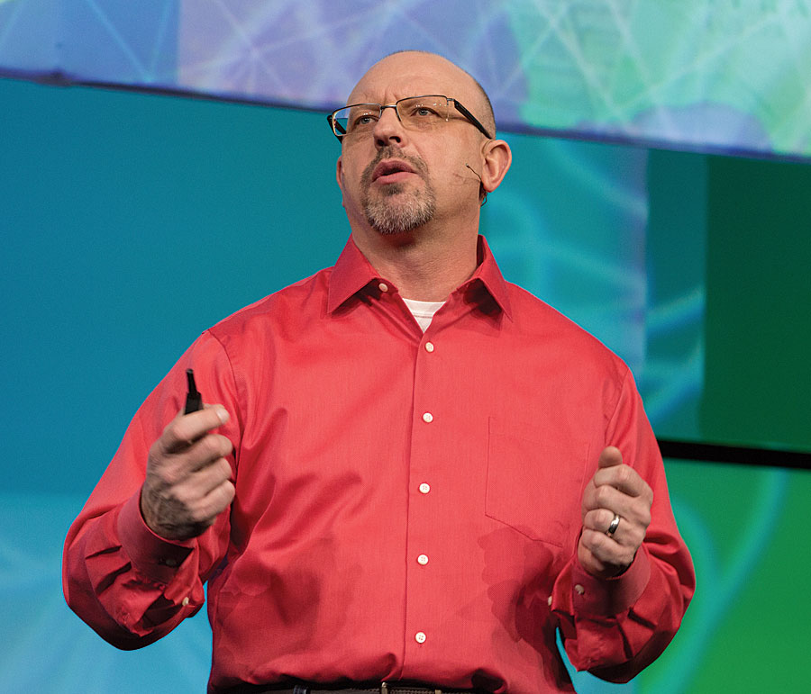 During the Plenary Session, Jim McKinney, Esri's chief technology officer for desktop software development, told the audience that they make the maps and apps that run the world.
