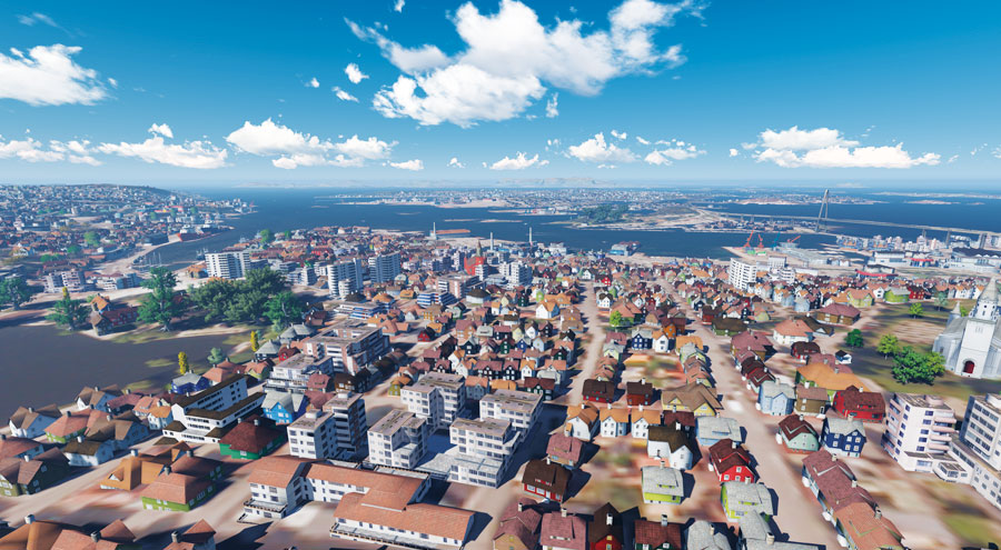 To help train civilian search and rescue helicopter pilots in Norway, Janil used Esri CityEngine to create a 3D replica of the southern Norwegian city Stavanger.