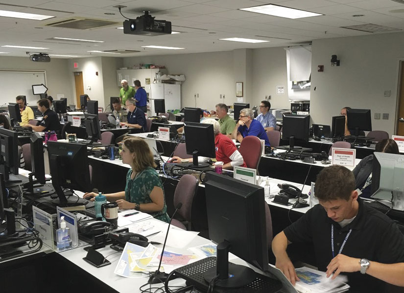 When the State Emergency Operations Center was activated for the July 12 storm, GIS staff promptly developed ArcGIS Online maps and apps to help local counties that were asking for assistance.