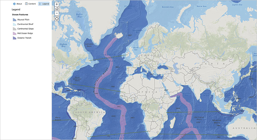 This ocean features GeoInquiries activity for earth science, grades 6–9, helps students categorize areas of the ocean and understand their significance.