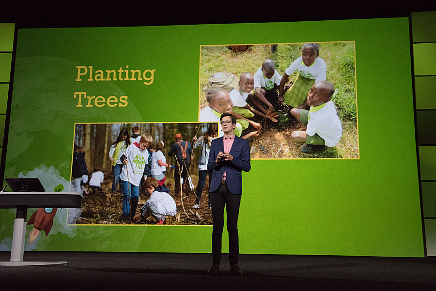 Finkbeiner was inspired to plant trees after he gave a talk about climate change at school.